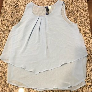 Light Blue Two Layer Tank Top